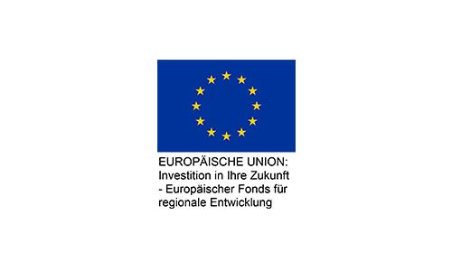 Logo Europäische Union Investition in Ihre Zukunft –Europäischer Fonds für regionale Entwicklung