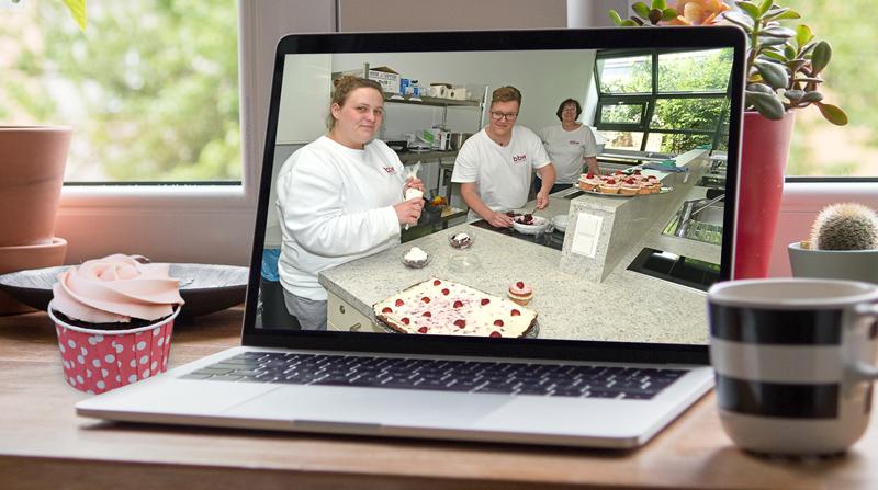 im bbw Südhessen wird auch digital beim Kochen und Backen betreut