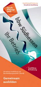 Flyer bbw Südhessen, VAmB - Verzahnte Ausbildung mit Betrieben