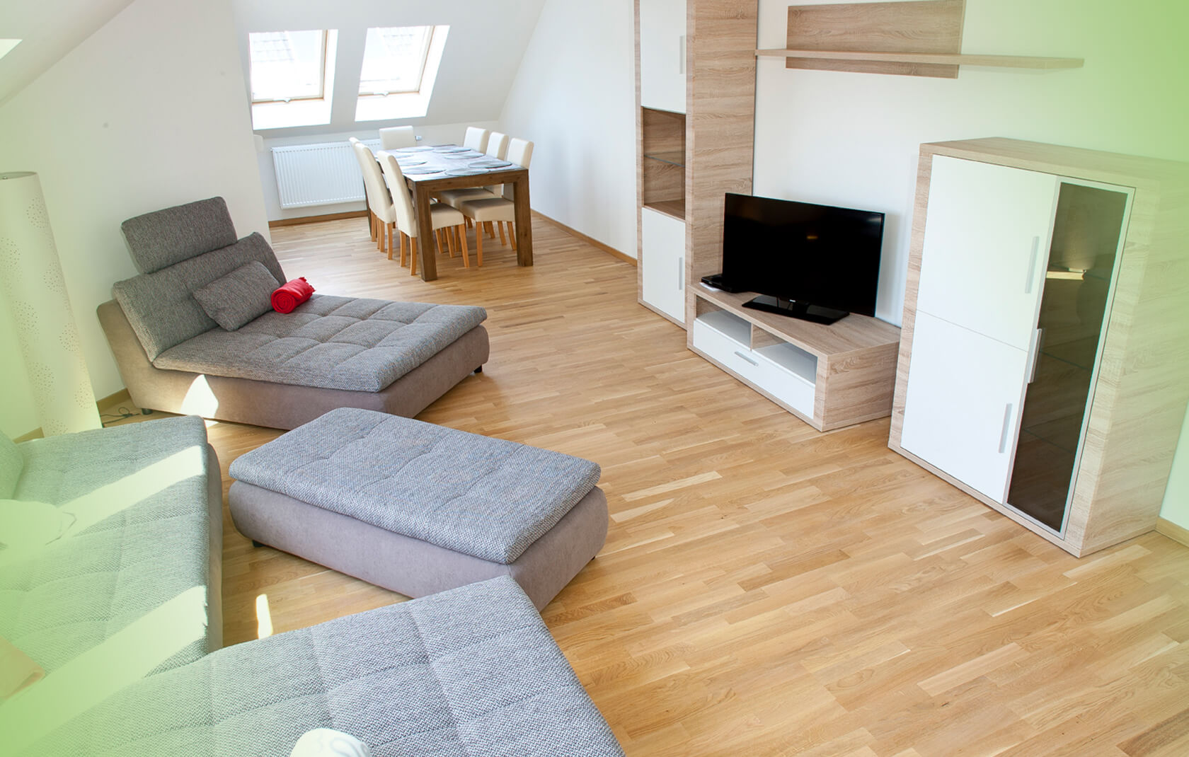 Wohnzimmer in der Jugendhilfe des bbw Südhessen